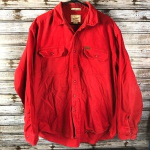 Woolrich Men's Expedition Chamois Button Up Red